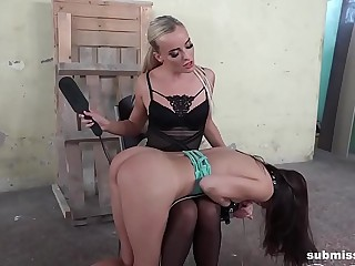 Sapphic FEMDOM  Slut Gets Slapped and Abased