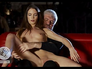 Skinny lady enraged the Tormentor and receives punishment