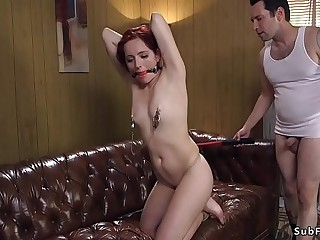 Dude orders slut and anal bdsm fucks her