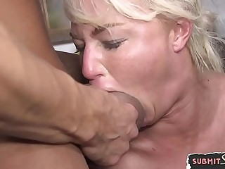 MILF slut big-chested maledoms hard cock
