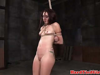 Tattooed BDSM submissive getting toyed