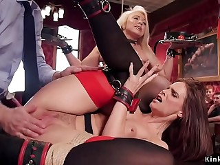 Squirting Milf banged at bdsm soiree