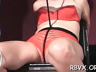 Breathtaking bimbo Red is rubbing her pussy like crazy