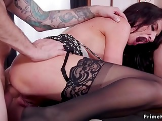 Inked masculine fucks wife and step daughter