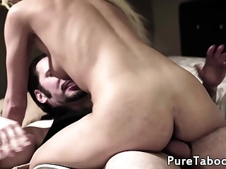 Slutty stepdaughter fucks her stepdad