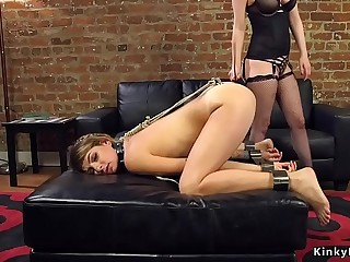 Hot ass lesbian anal invasion fucked from behind