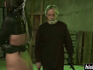 Perverted chap craves to chastise daisy