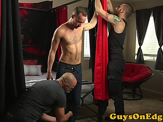 Edging fetish sub dominated over