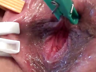 Close up vagina stimulation