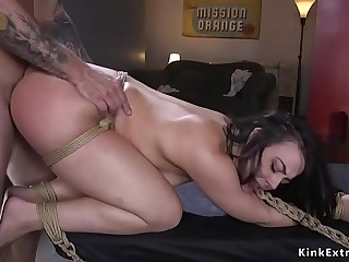 Sexy hostage in bondage rough banged