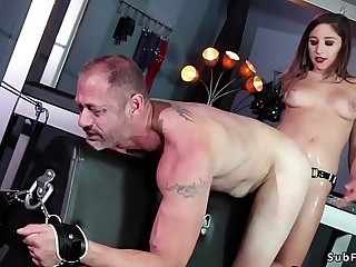 Big ass mistress anal fucks man