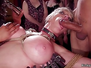 Huge tits Milf and ebony orgy bdsm party