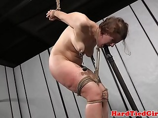 Slave getting dominated and whipped
