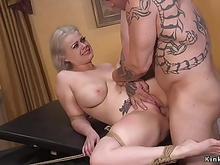 Boss fucks huge tits blonde secretary