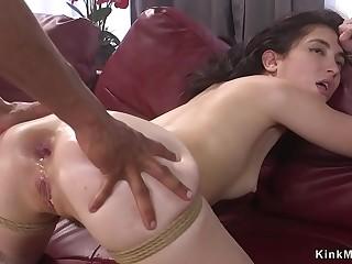 Black master anal fucks little slave