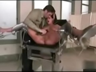 Forced BDSM squirt on gynochair