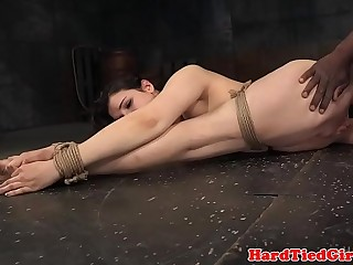 Humiliated BDSM beauty gets restrained