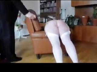 Slutty milf Anita punished with Birch