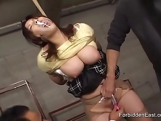 Sweet Asian Teen Bound While Clothed Ballgag Stuffed In Mouth Ready To Be Dominated