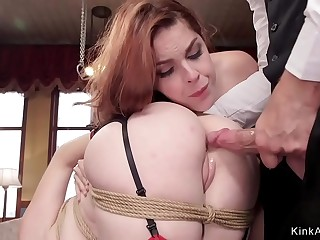 Butler gives ass to mouth for sexy subs