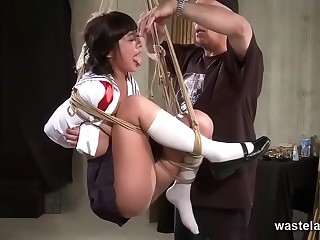 Sex Swing Proves A Perfect Device For Dominant Master To Torment His Submissive Slut