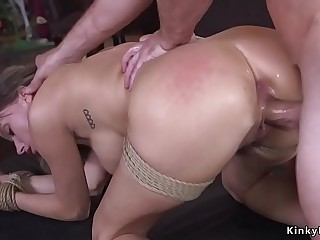 Anal obsessed guy bangs busty landlord
