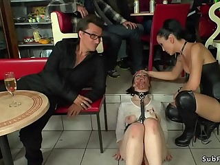 Double penetration public Euro sex