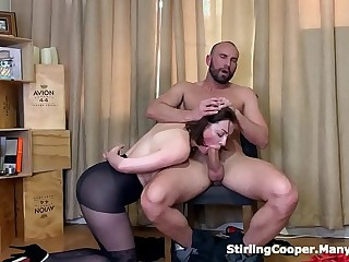 Seducing her Punisher riding his cock and jerking him off